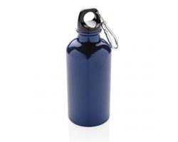 Kovová sportovní lahev s karabinou SEYORES, 400 ml - modrá