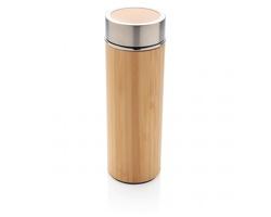 Nerezovo bambusová termoláhev PLEA, 320 ml - hnědá