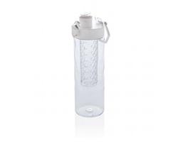 Nepropustná plastová lahev HOLLAND s infuzérem a uzamykatelným víčkem - bílá