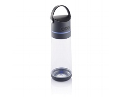 Tritanová láhev na pití DOZER s bezdrátovým reproduktorem a světlem, 650 ml - antracitová