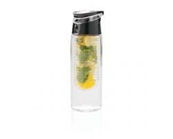Tritanová láhev na pití CHICK s infuzérem na ovoce, 700 ml - transparentní / šedá
