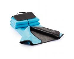 Fleecová pikniková deka FOXES s uchem pro přenášení v ruce - modrá