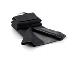 Fleecová pikniková deka FOXES s uchem pro přenášení v ruce - černá