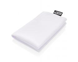 Chladicí sportovní ručník v pytlíku EVERGREEN vyrobený z recyklovaného PET - bílá