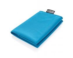 Chladicí sportovní ručník v pytlíku EVERGREEN vyrobený z recyklovaného PET - modrá