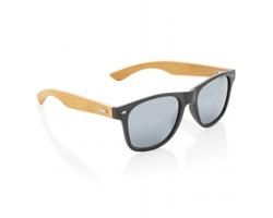 Sluneční brýle RIVA z bambusu a pšeničné slámy - černá