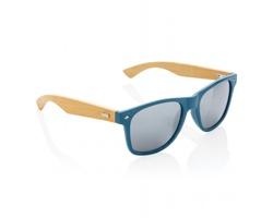 Sluneční brýle RIVA z bambusu a pšeničné slámy - modrá