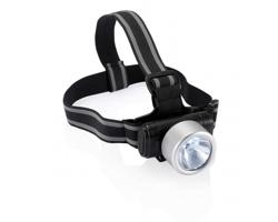 LED světlo na hlavu HARLEY s čelenkou - stříbrná / černá