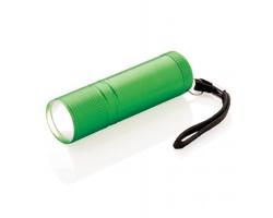 Hliníková COB svítilna EXES s extra jasným světlem - zelená