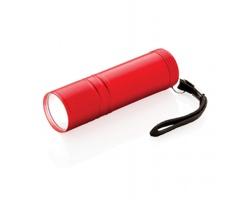 Hliníková COB svítilna EXES s extra jasným světlem - červená