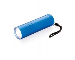 Hliníková COB svítilna EXES s extra jasným světlem - modrá