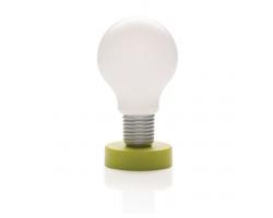 Dotyková lampička KAMA ve tvaru žárovky - zelená / bílá