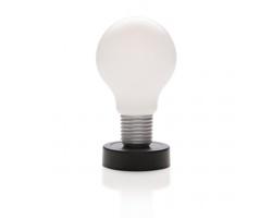 Dotyková lampička KAMA ve tvaru žárovky - černá