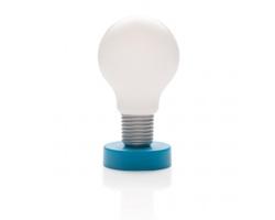 Dotyková lampička KAMA ve tvaru žárovky - modrá / bílá