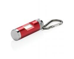 Hliníková COB svítilna s karabinou DARER - červená