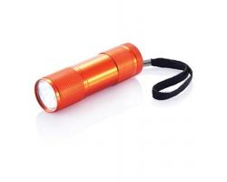 Hliníková LED svítilna ERIN s poutkem - oranžová