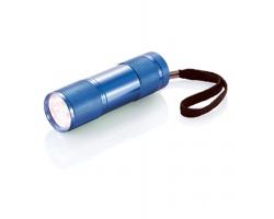 Hliníková LED svítilna ERIN s poutkem - modrá