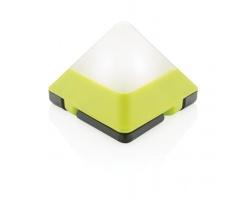 Bezpečnostní mini světlo BRANDE ve tvaru pyramidy - limetková