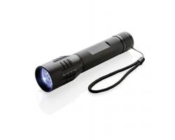 Hliníková velká LED svítilna SERVE s dlouhou výdrží - černá