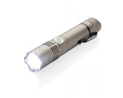 Hliníková LED svítilna ASKEW s dobíjecí baterií - šedá