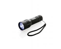 Hliníková LED svítilna REORD s vysokou svítivostí - černá