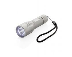 Hliníková LED svítilna REORD s vysokou svítivostí - šedá / černá