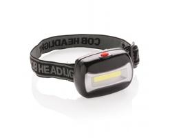 Plastová čelovka DRAGOMAN s ultra jasný LED světlem - černá