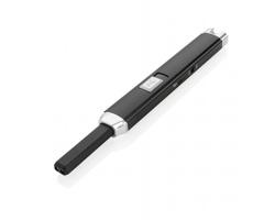 Kovový plazmový USB zapalovač CERCI - černá / šedá