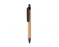 Ekologické kuličkové pero SAUDI z přírodních materiálů - černá