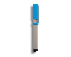 Hliníkové pero a stylus ADOLPH s čistítkem displeje ve víčku - modrá