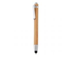 Bambusové kuličkové pero ADVISERS se stylusem - hnědá