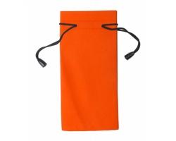 Polyesterový obal na sluneční brýle MILLA - oranžová / černá