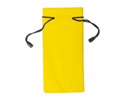 Polyesterový obal na sluneční brýle MILLA - žlutá / černá