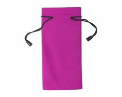 Polyesterový obal na sluneční brýle MILLA - růžová / černá