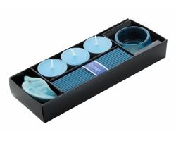 Sada vonných svíček a tyčinek INCIENSO - modrá