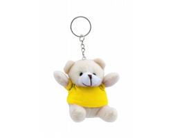 Plyšový přívěsek na klíče TEDDY - žlutá