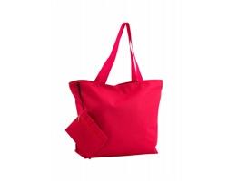 Polyesterová plážová taška MONKEY s kosmetickou taštičkou - červená