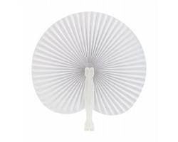 Papírový vějíř STILO - bílá
