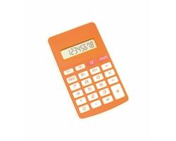 Plastová kalkulačka RESULT - oranžová