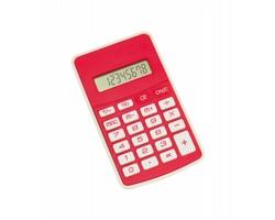 Plastová kalkulačka RESULT - červená