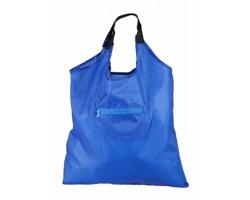 Skládací nákupní taška KIMA s kapsou na zip - modrá