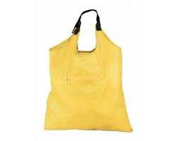 Skládací nákupní taška KIMA s kapsou na zip - žlutá