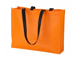 Nákupní taška TUCSON z netkané textilie - oranžová / černá