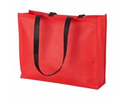 Nákupní taška TUCSON z netkané textilie - červená / černá