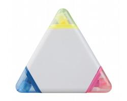 Plastový zvýrazňovač TRICO se 3 barvami - bílá / vícebarevná