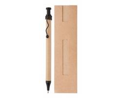 Kuličkové pero NATURA - černá / béžová