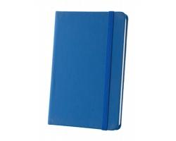Poznámkový blok KINE s deskami z PU kůže - modrá