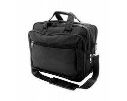 Polyesterová taška na dokumenty SEKTOR s prostorem na notebook - černá