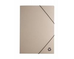Papírové desky na dokumenty ECOLOGICAL z recyklovaného papíru - přírodní