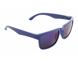 Plastové sluneční brýle BUNNER s metalickými skly - modrá